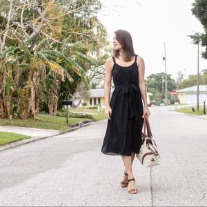 Black pleated sundress